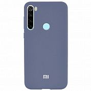 Чехол TPU Soft-touch logo series для Xiaomi Redmi Note 8T (серый / lavender)