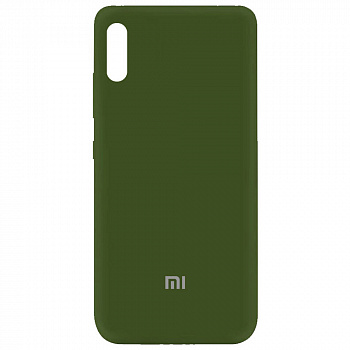 Чехол Silicone Cover My Color Full Protective для Xiaomi Redmi 9A (зеленый / forest green)