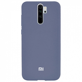 Чехол TPU Soft-touch logo series для Xiaomi Redmi Note 8 Pro (серый / lavender)