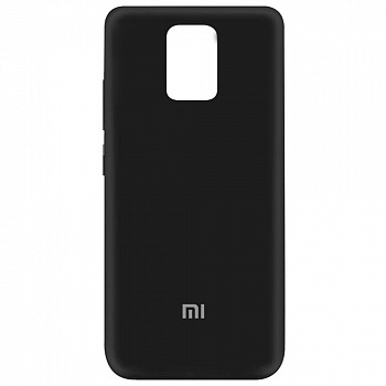 Чехол Silicone Cover My Color Full Protective для Xiaomi Redmi Note 9 (черный / black)