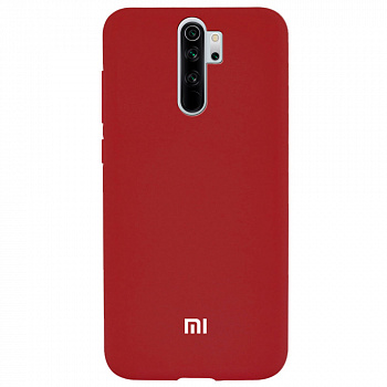 Чехол TPU Soft-touch logo series для Xiaomi Redmi Note 8 Pro (красный / dark red)