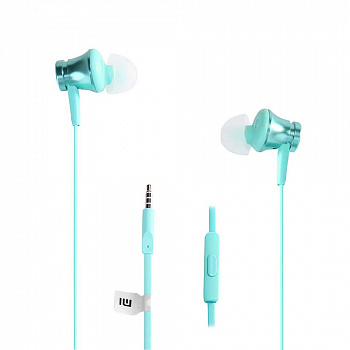 Наушники Xiaomi Piston Basic Edition In-ear Earphones with Mic (бирюзовые)