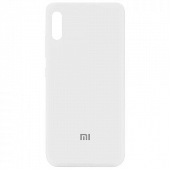 Чехол Silicone Cover My Color Full Protective для Xiaomi Redmi 9A (белый / white)