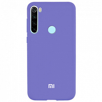 Чехол TPU Soft-touch logo series для Xiaomi Redmi Note 8 (фиолетовый / violet)