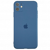 Чехол Slim Silicone Case Full Protective для Apple iPhone 11 (синий / denim blue)