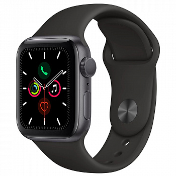 Apple Watch Series 5 GPS 44mm Aluminum Case with Sport Band (Space Gray)