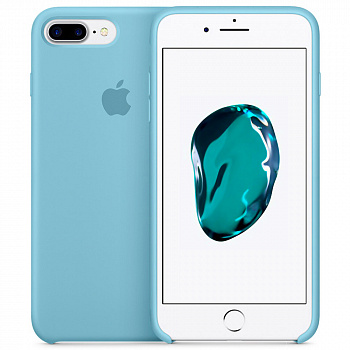 Чехол Silicone Case для Apple iPhone 7 Plus / 8 Plus (голубой)