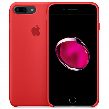 Чехол Silicone Case для Apple iPhone 7 Plus / 8 Plus (красный)