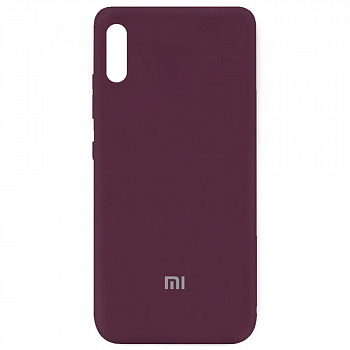 Чехол Silicone Cover My Color Full Protective для Xiaomi Redmi 9A (бордовый / maroon)