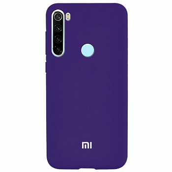 Чехол TPU Soft-touch logo series для Xiaomi Redmi Note 8 (фиолетовый / purple)