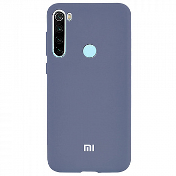 Чехол TPU Soft-touch logo series для Xiaomi Redmi Note 8 (серый / lavender)